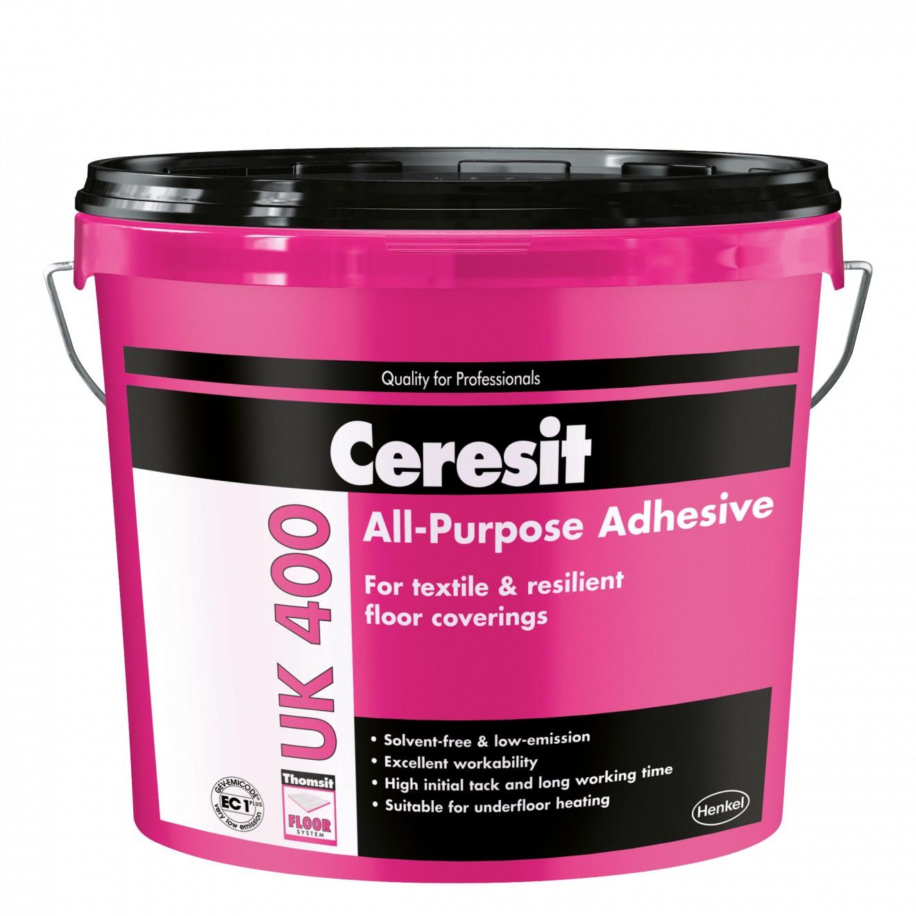 Adeziv Ceresit UK400, mochete, covor PVC, linoleum, 14 kg imagine 2021 mathaus