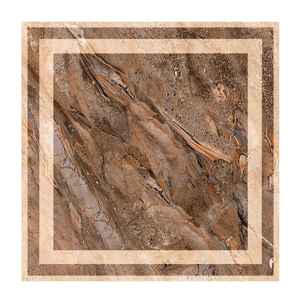 Gresie portelanata Art Ceramic Luma maro, patrata, 42 x 42 cm