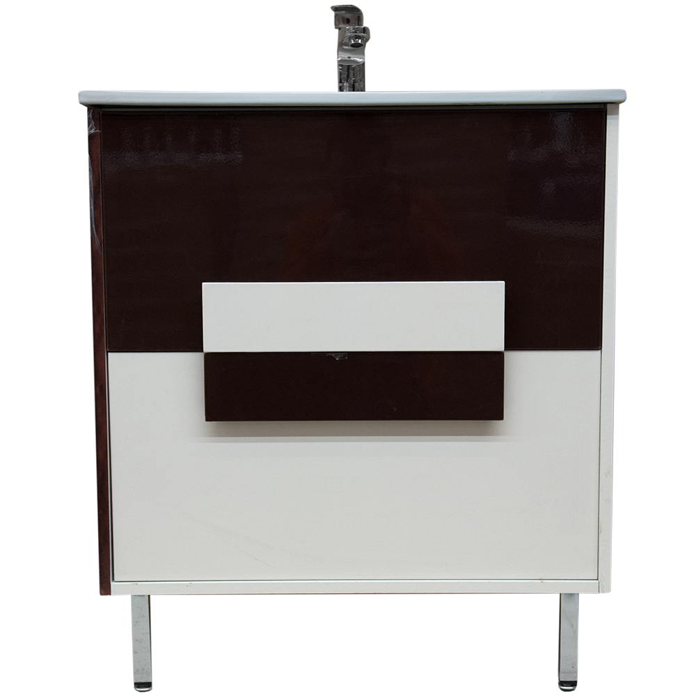 Mobilier de baie baza, lavoar Iffet, cappucino/bej, 700 x 435 x 810 mm
