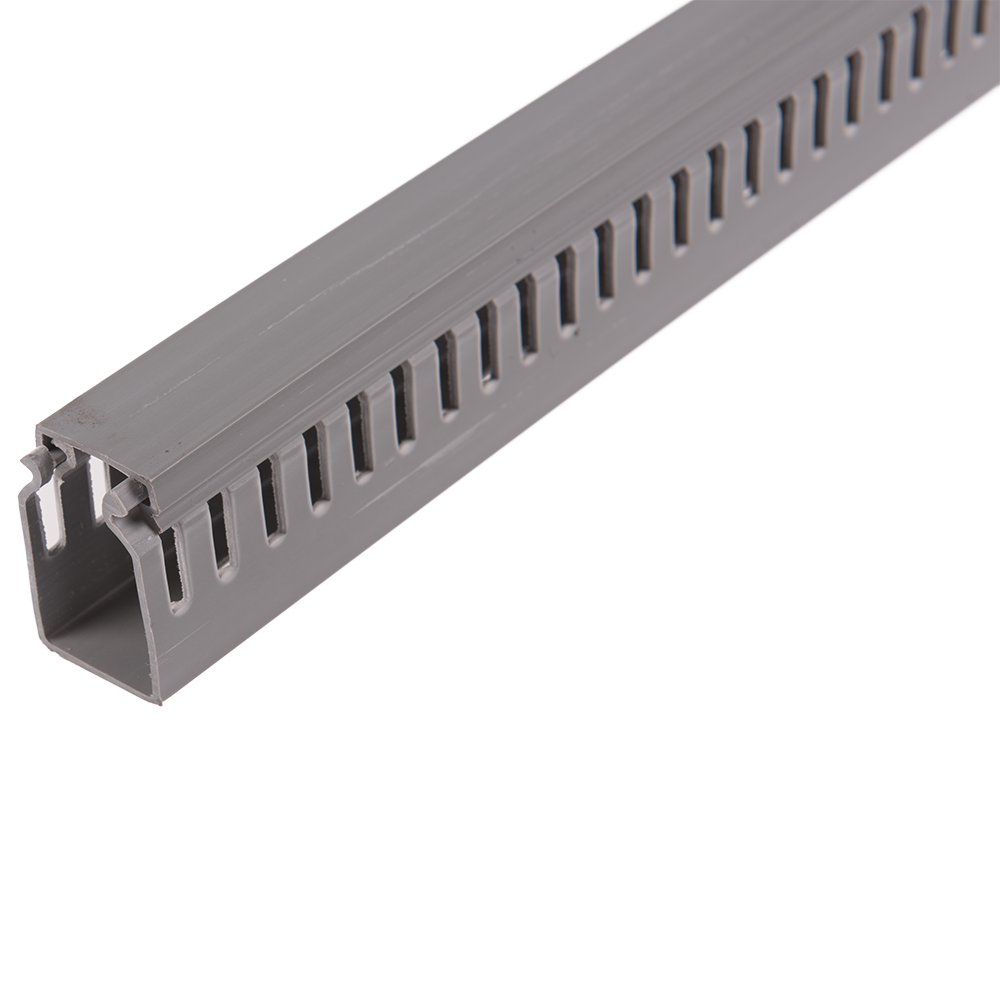 Canal slitat pentru cabluri, 25 x 40 mm, 2 m gri