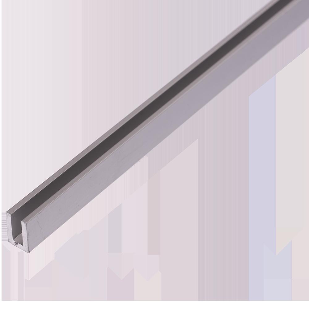 Profil din aluminiu tip U, 8 x 12 x 2 mm, 2 m imagine 2021 mathaus