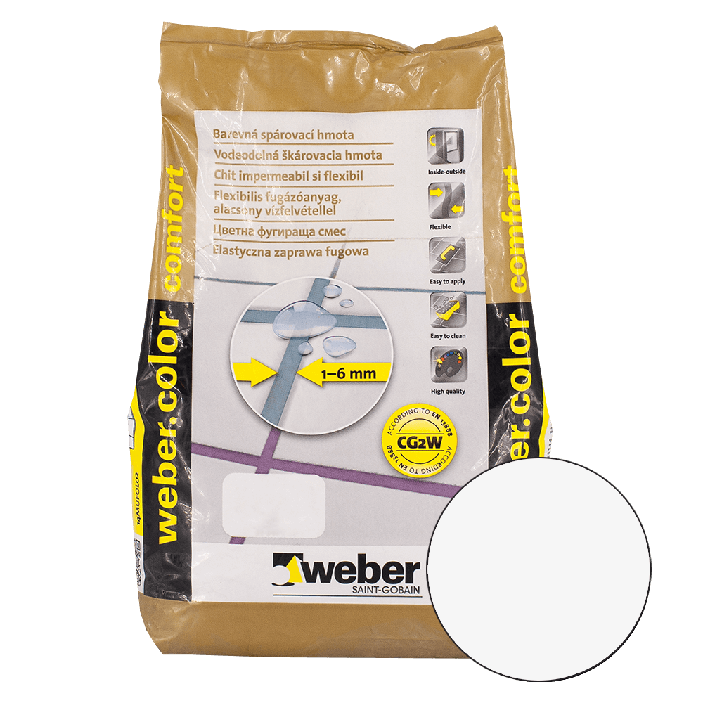Chit de rosturi Weber Color Comfort, white, 2 kg imagine 2021 mathaus