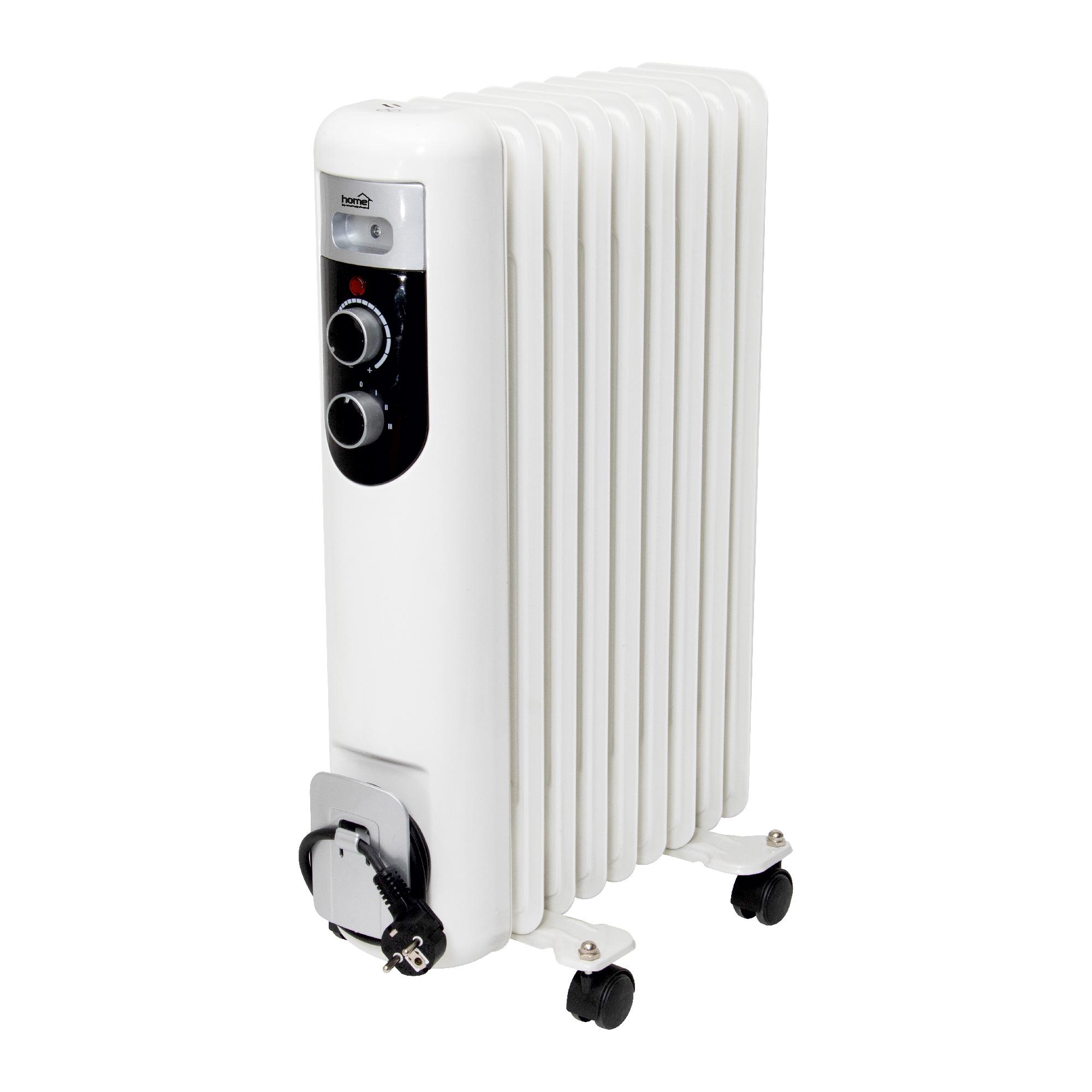 Calorifer electric cu ulei Home by somogyi FKOS 9M, 2 panouri convectoare, 2000W, aluminiu, alb, 60 x 44 cm imagine 2021 mathaus