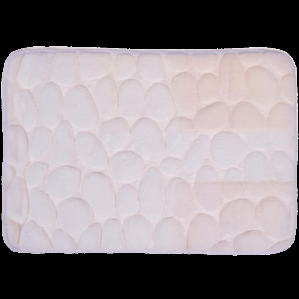 Covoras de baie, microfibra 100%, alb, 40 x 60 cm