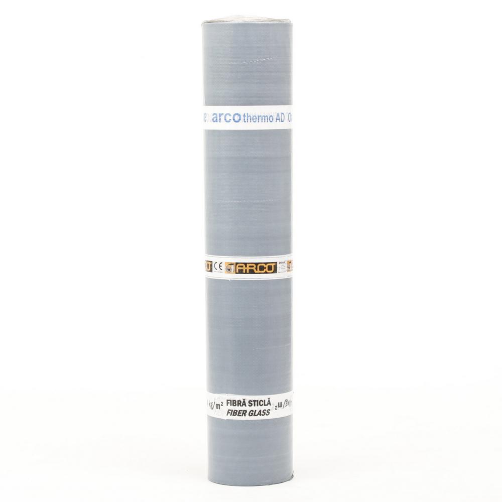 Membrana bituminoasa autoadeziva Arco Thermo AD V2, armatura fibra de sticla, finisaj cu film PE, 2 mm, 10 x 1 m