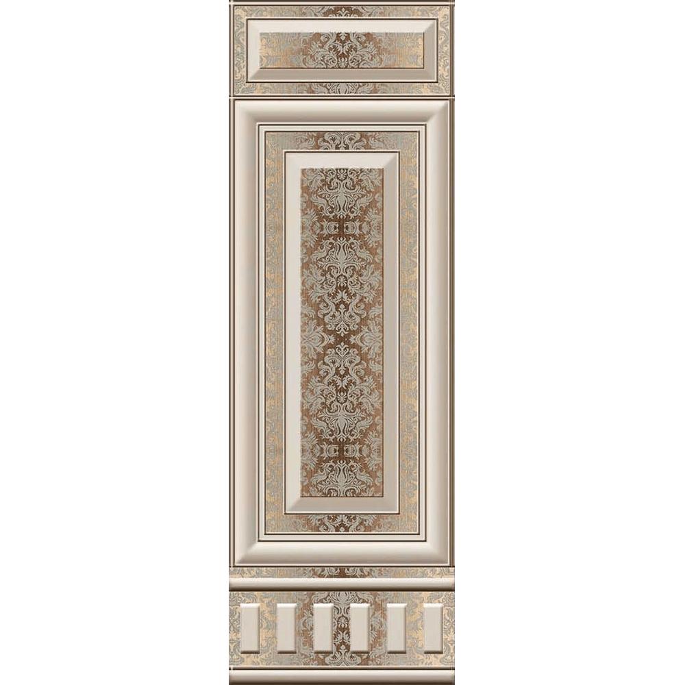 Faianta Lugo Royal HL rectificata maro, lucioasa, embosata, 25 x 75 cm imagine MatHaus.ro