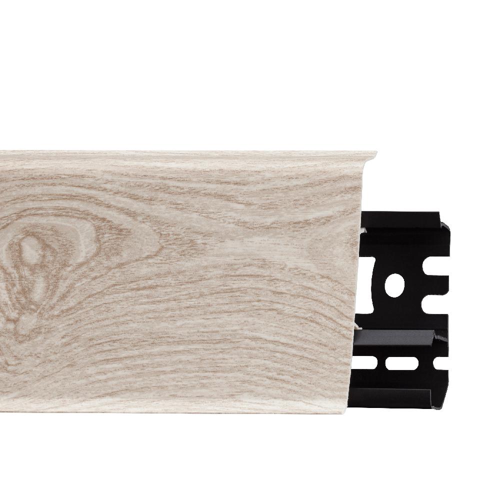 Plinta parchet, cu canal de cablu, PVC, stejar burgosa, INDO 70, 2500 mm imagine MatHaus