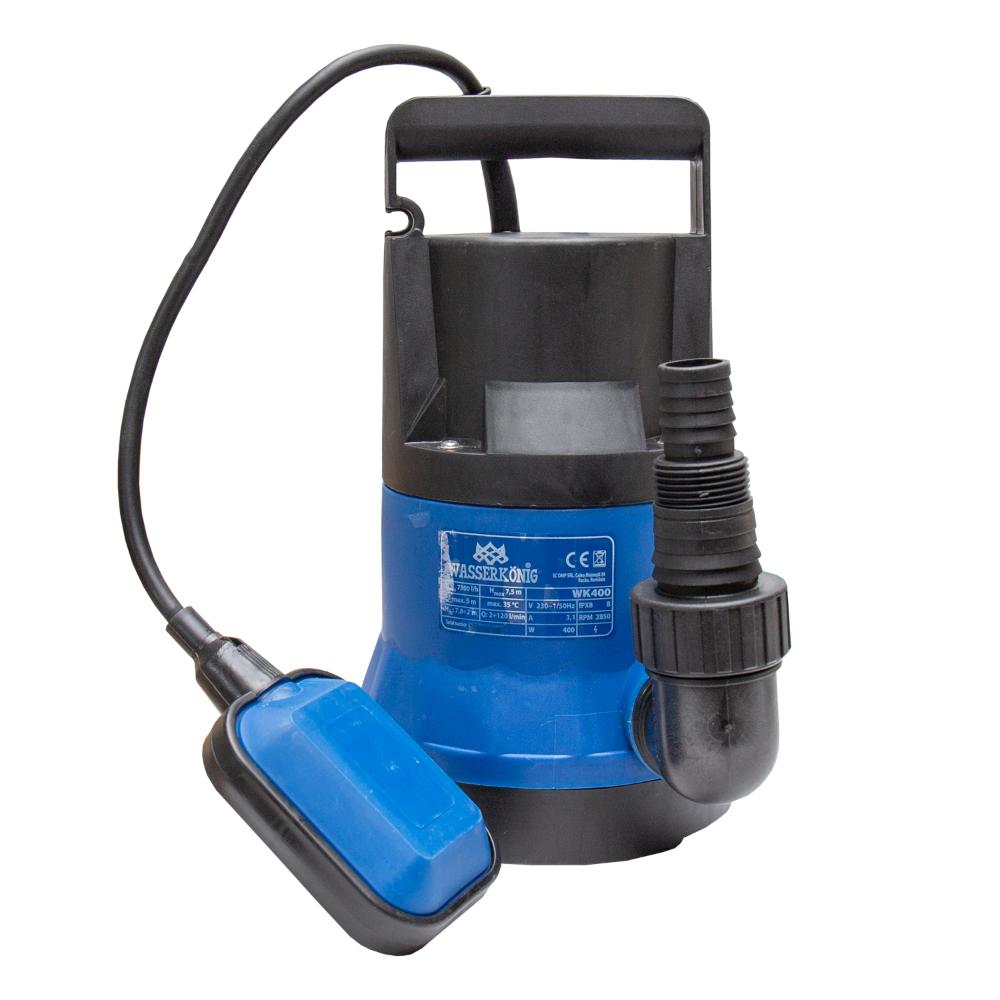 Pompa sumbersibila ape curate Wasserkonig 400W, 120 l/min, H refulare 8 m, particule 5 mm imagine MatHaus.ro