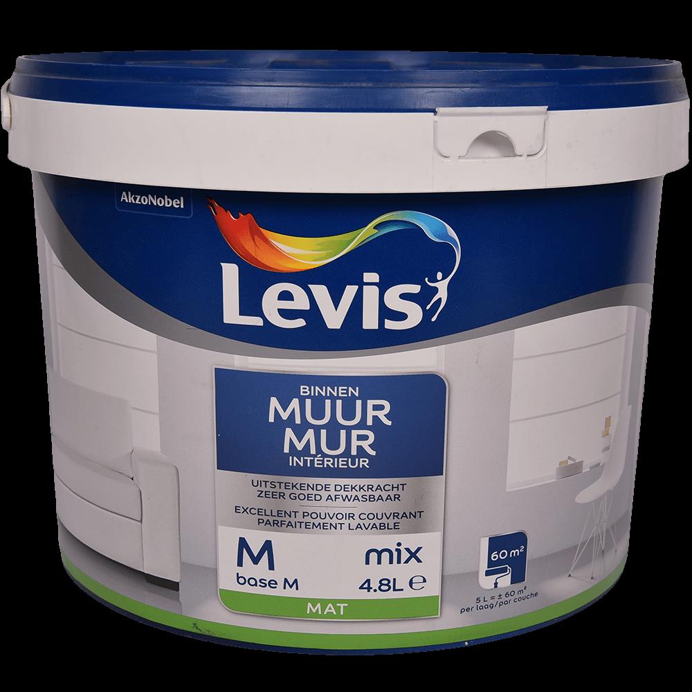 Vopsea lavabila Levis Muur Latex Mix Base M, alb mat, 4,8 l imagine 2021 mathaus