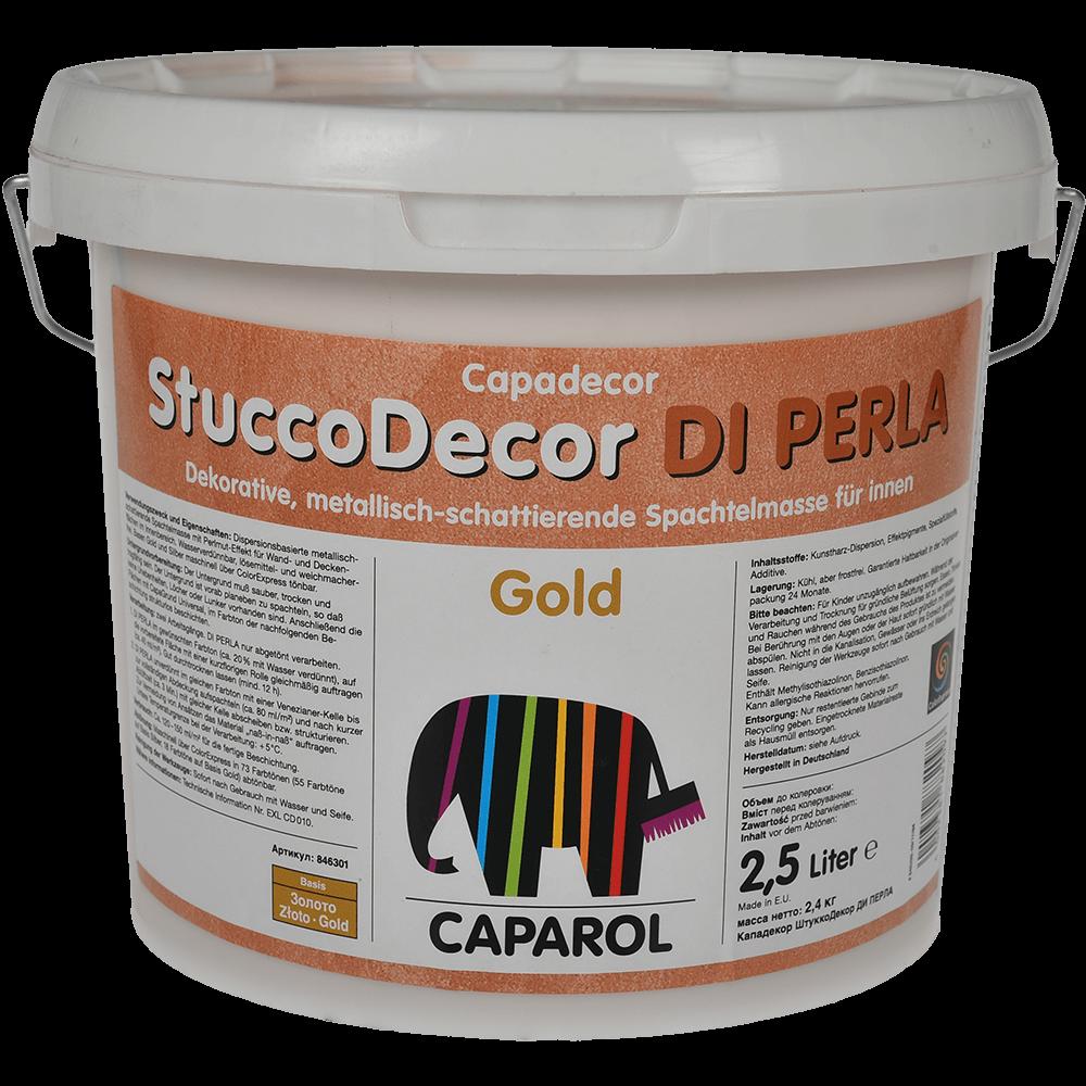 Masa de spaclu decorativa StuccoDecor, auriu, 2,5 l imagine 2021 mathaus