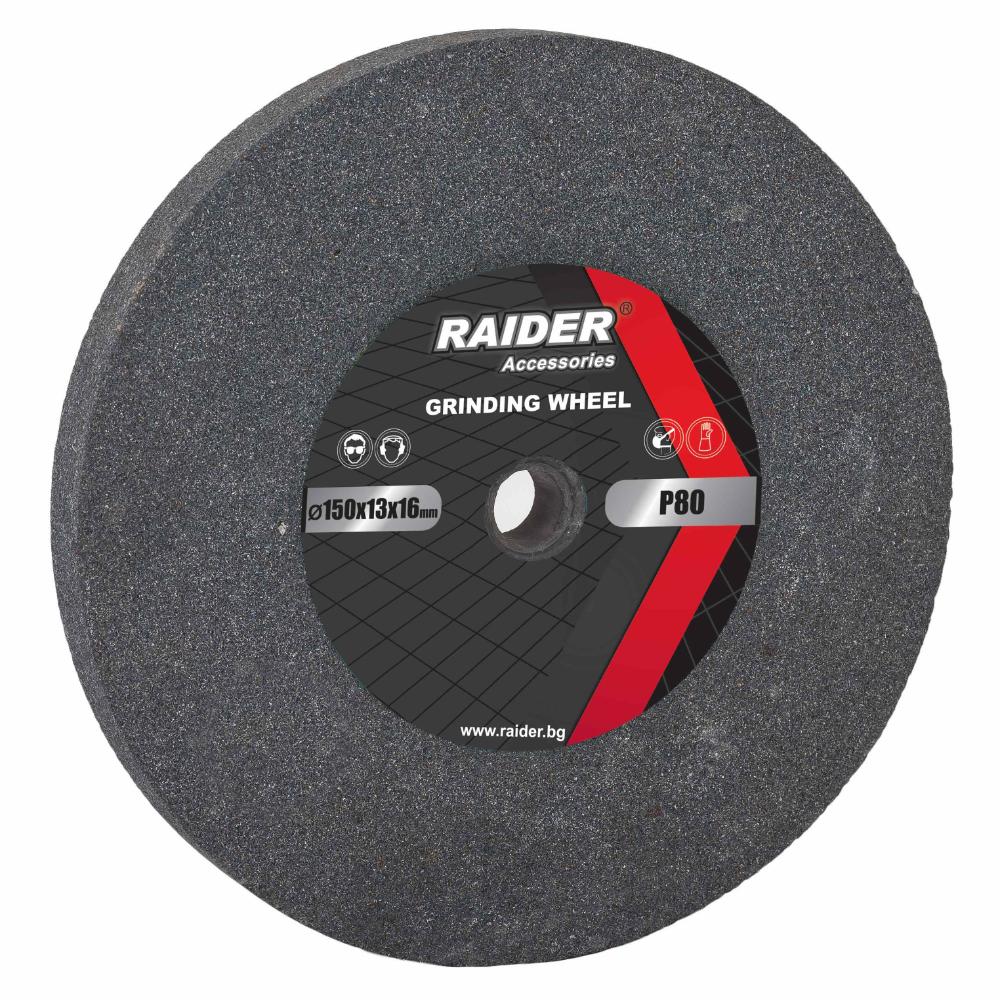 Piatra de polizor, pentru metale, Raider G80, 150 mm, granulatie 80 mathaus 2021