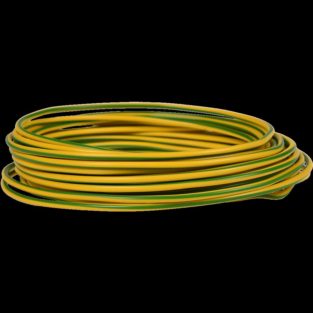 Rola conductor electric FY / H07V-U 1x4 mmp verde-galben 10 m