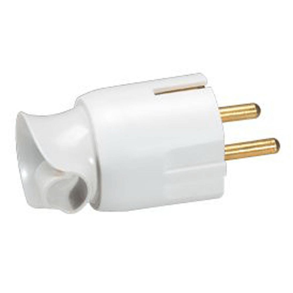 Fisa orientare cablu, contact de protectie, 16 A, alba