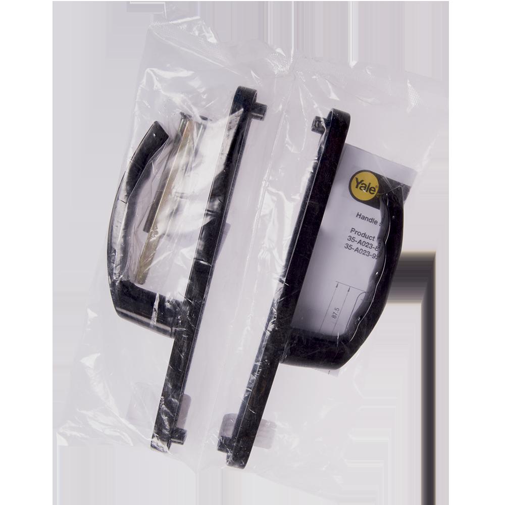 Maner pentru usa PVC, 2 puncte fixare, negru, sild 85 mm