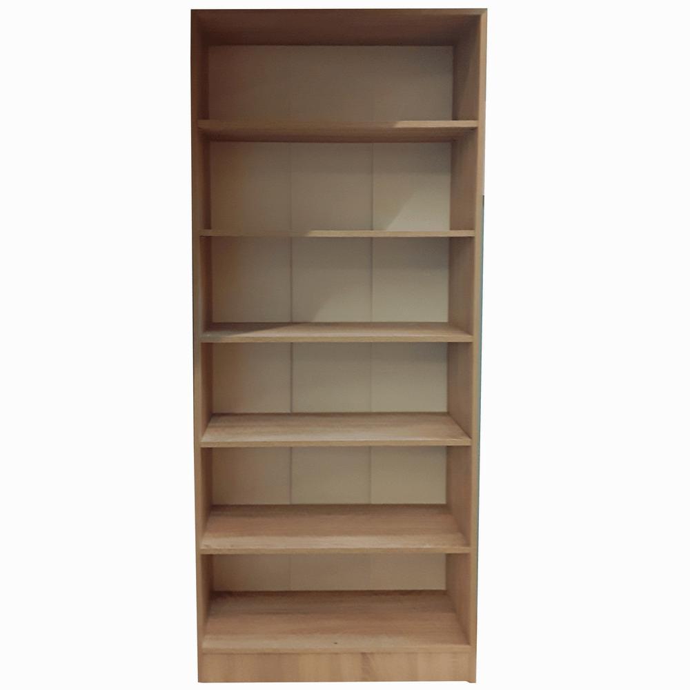 Dulap cu rafturi pal melaminat, sonoma, 80 x 28 x 202 cm
