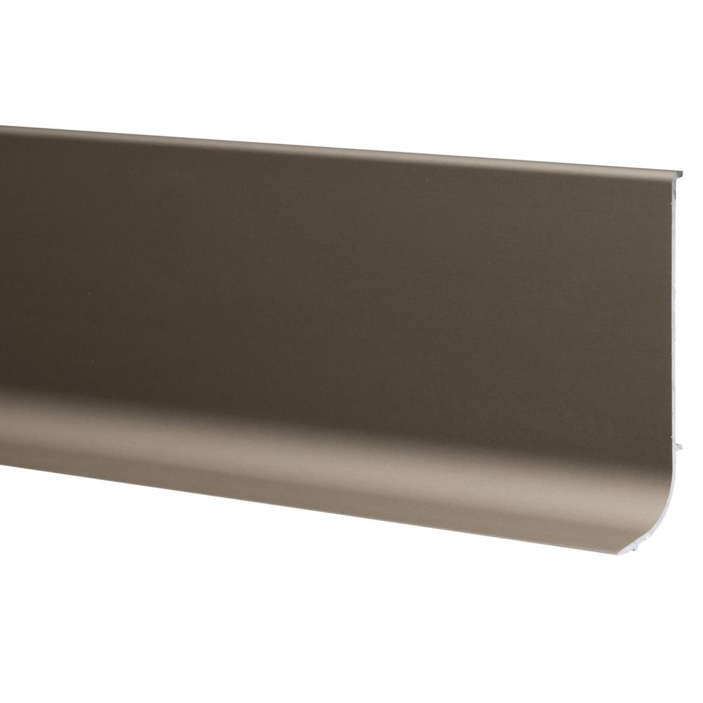 Plinta parchet, aluminiu, nuanta oliv, 3000 mm imagine MatHaus