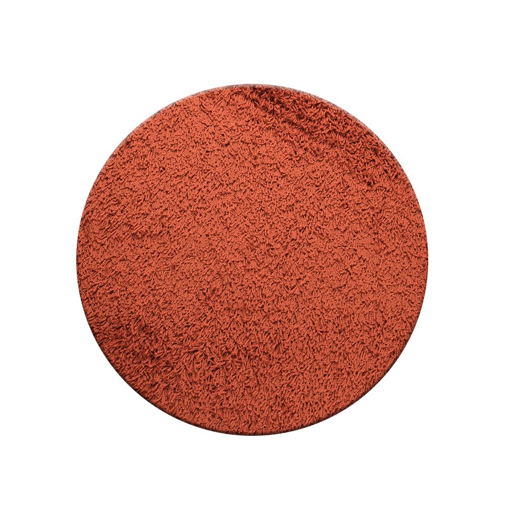 Covor rotund Mistral, 100% polipropilena friese, model modern portocaliu, 80 cm