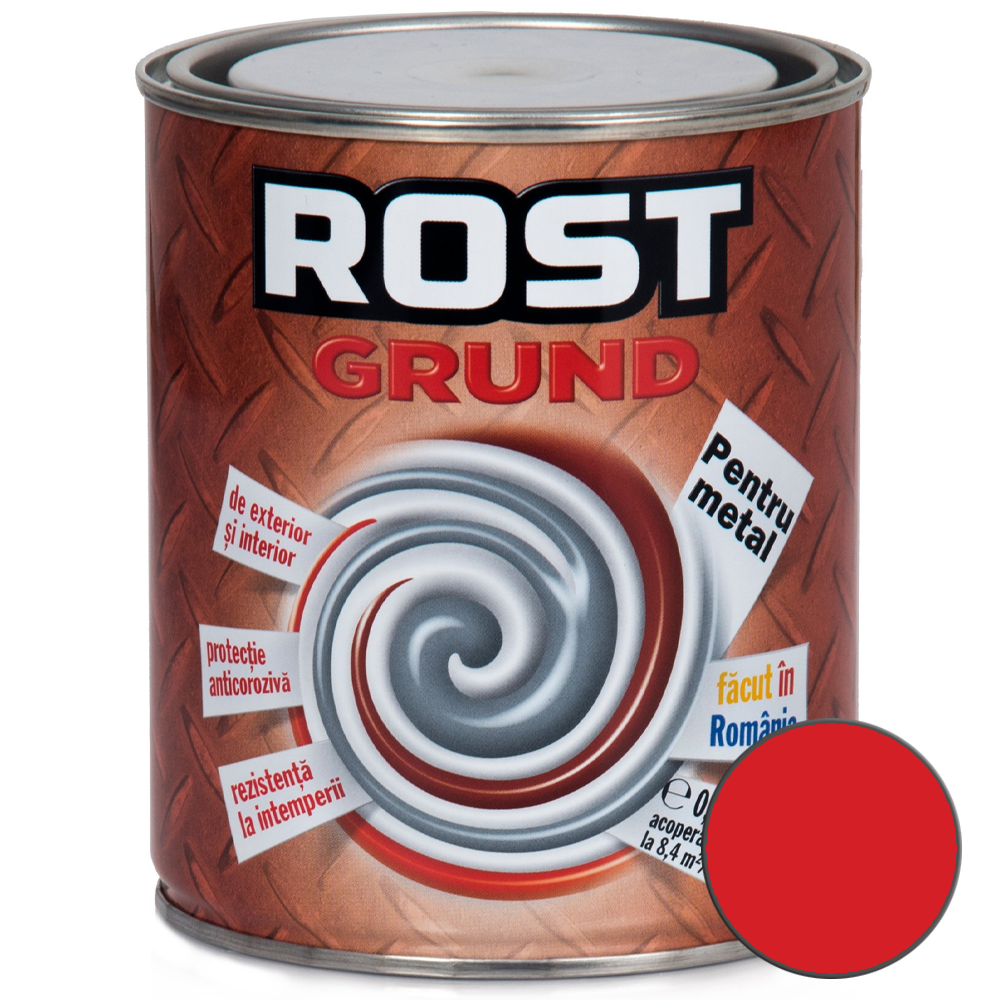 Grund pentru metal, Rost, rosu oxid, 0,7 l