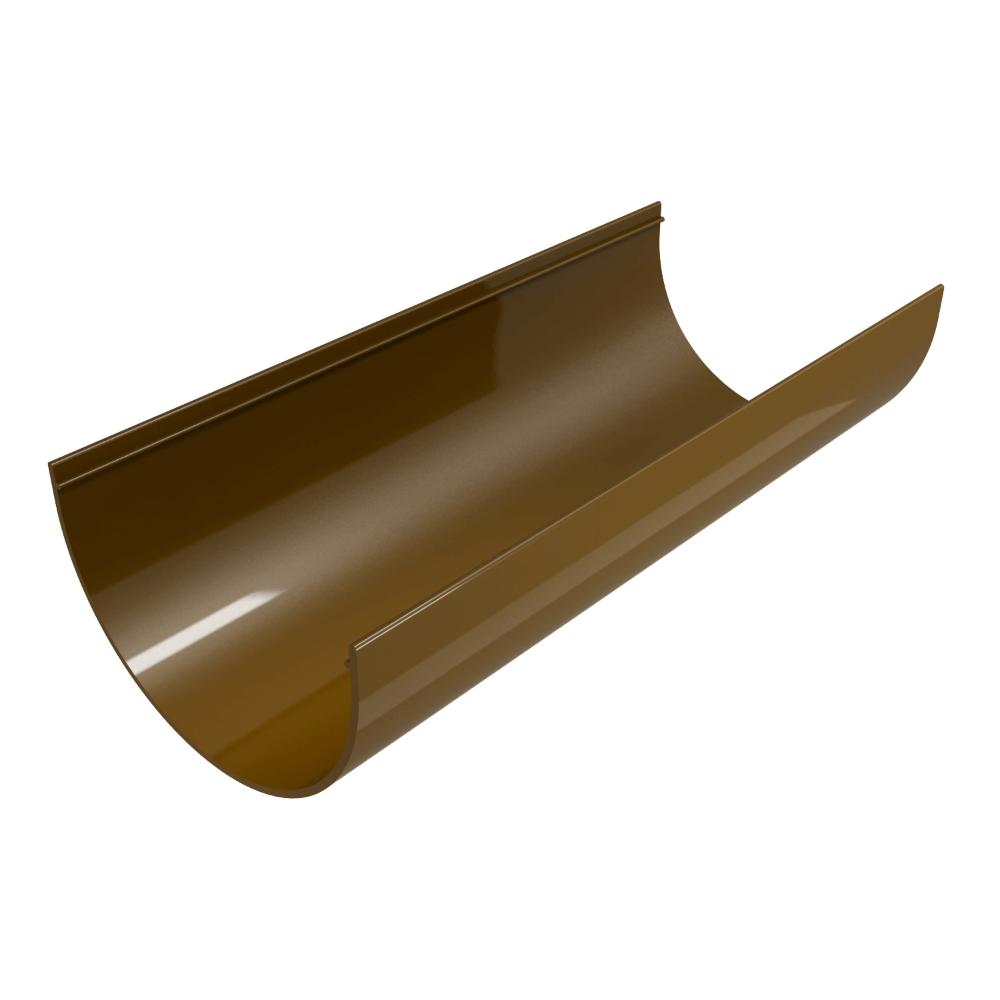 Jgheab 125 mm, PVC, Regenau, culoare: maro, L= 3 m