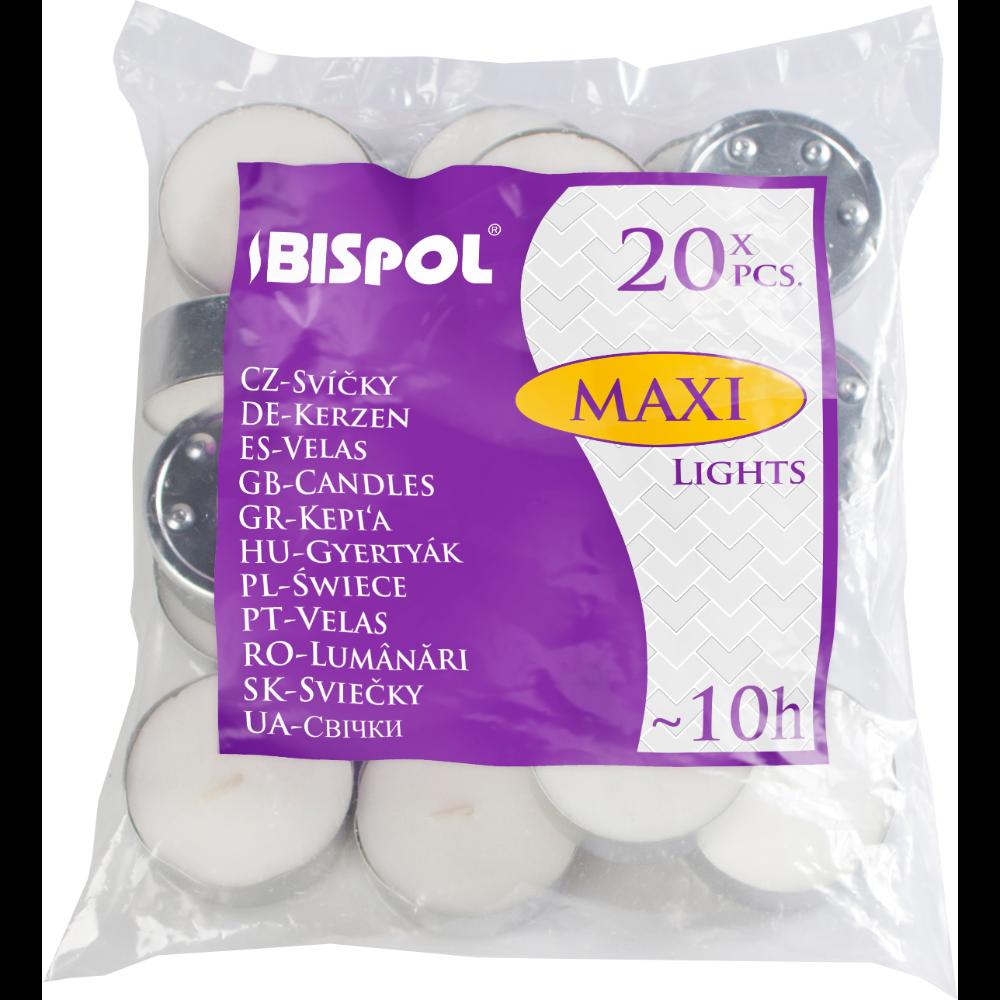 Set 20 lumanari  tip pastila maxi, alb imagine 2021 mathaus