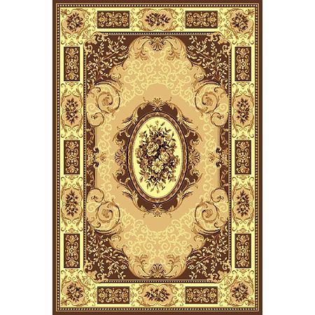 Covor clasic Gold 242/12, polipropilena BCF, bej-maro, 150 x 230 cm