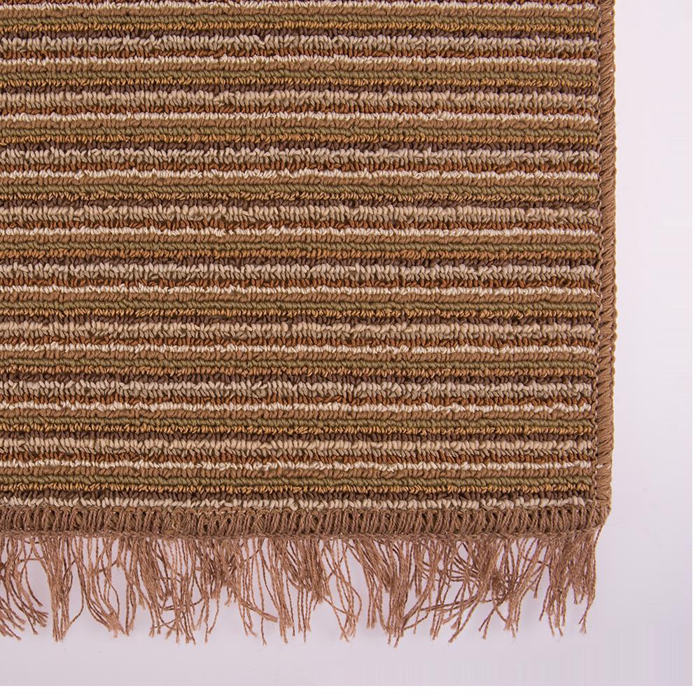 Covor bucatarie Niagara, 100% polipropilena, model cu dungi maro-bej, 125 x 200 cm imagine 2021 mathaus