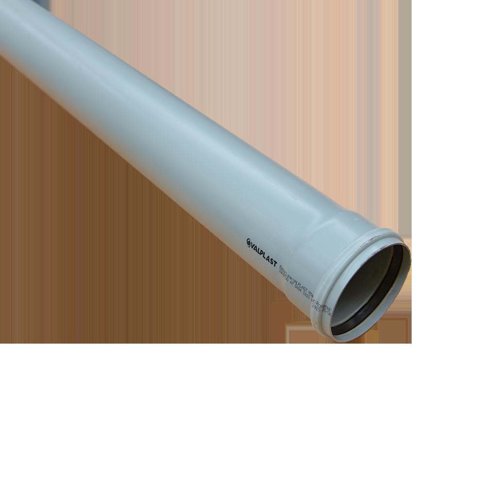 Tub Valplast, PVC, gri, diametru 110 mm, lungime 4 m imagine 2021 mathaus