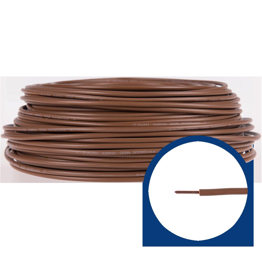 Cablu electric FY/ H07V-U 4 mm maro imagine 2021 mathaus