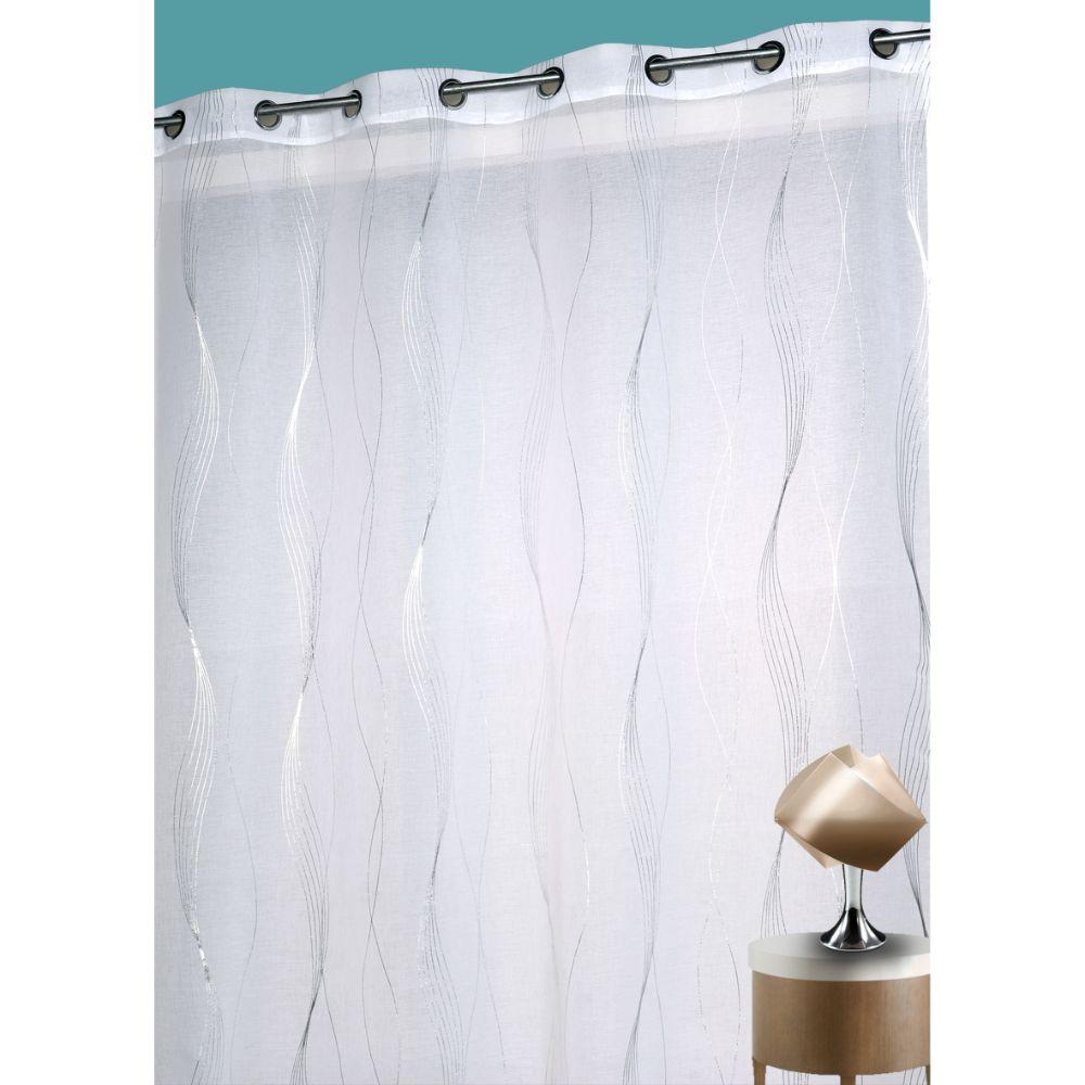 Perdea Sound 100% poliester, alb-argintiu 090, 140 x 260 cm