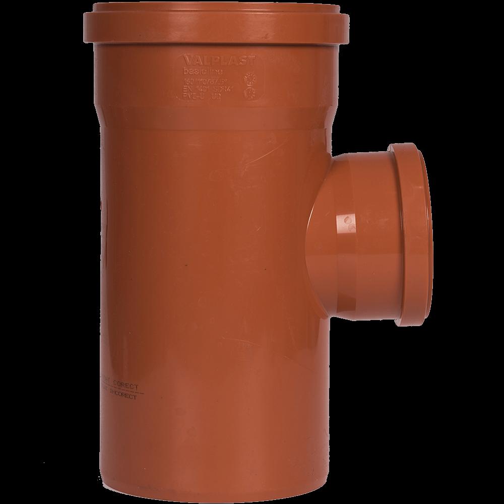Ramificatie pentru canalizarea exteriorara Valplast, PVC, 87 grade, 160 x 110 mm