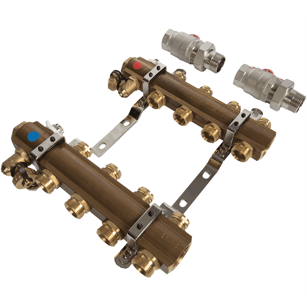 Distribuitor RO04 Ferro, 4 circuite, alama, 1 inch