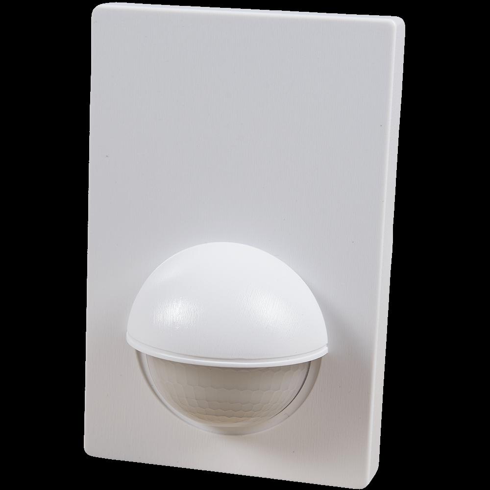 Senzor de miscare infrarosu plat, 180 grade, 1200 W, IP44, alb mathaus 2021