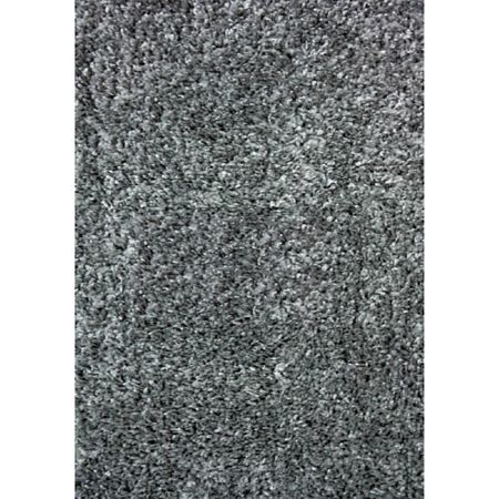 Covor modern Shaggy de Luxe 8000/90, polipropilena friese, model gri, 60 x 100 cm