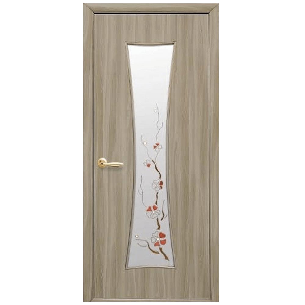 Usa interior cu geam Ecoveneer Chasy cenusiu, MDF, reversibila, 200 x 70 x 3,4 cm