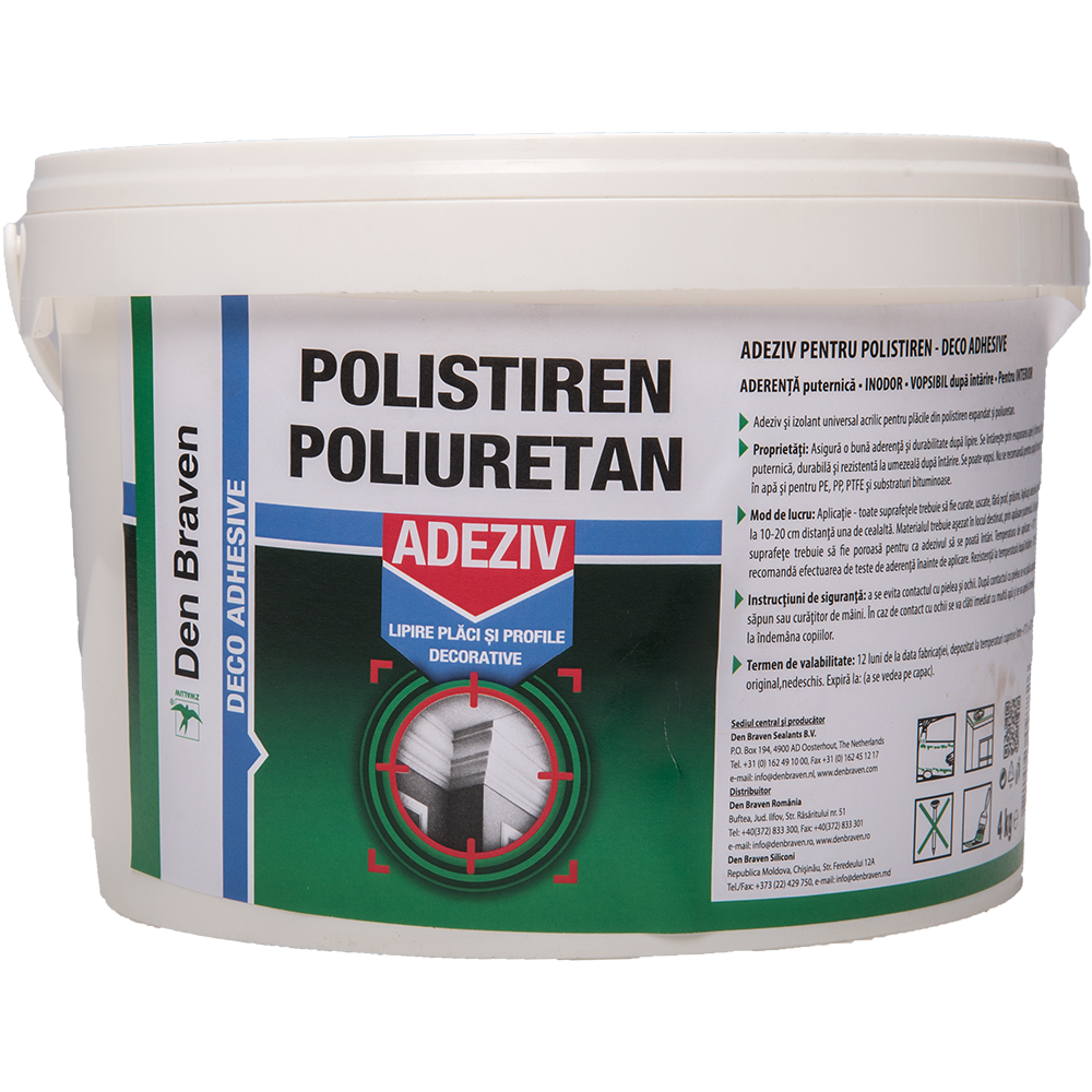 Adeziv pentru polistiren Den Braven Deco Adhesive 4 kg imagine 2021 mathaus