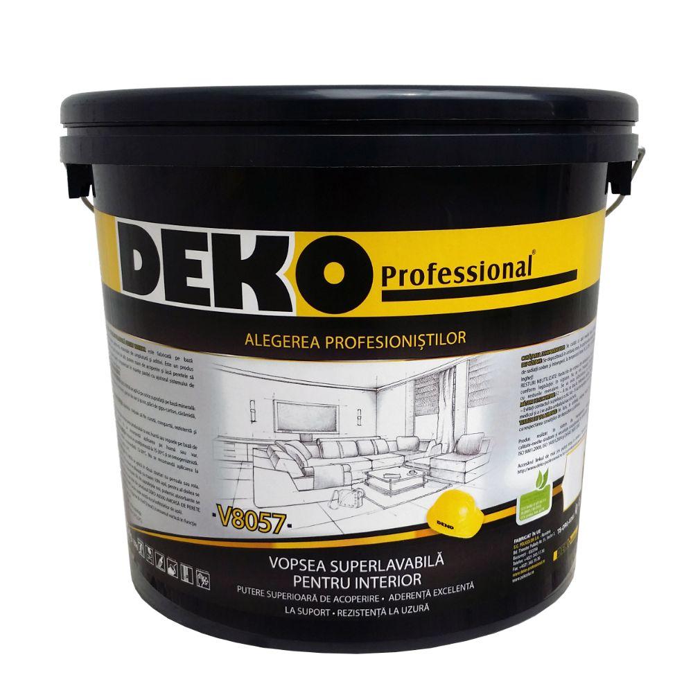 Vopsea lavabila interior, Deko V8057, alba, 2,5 l mathaus 2021