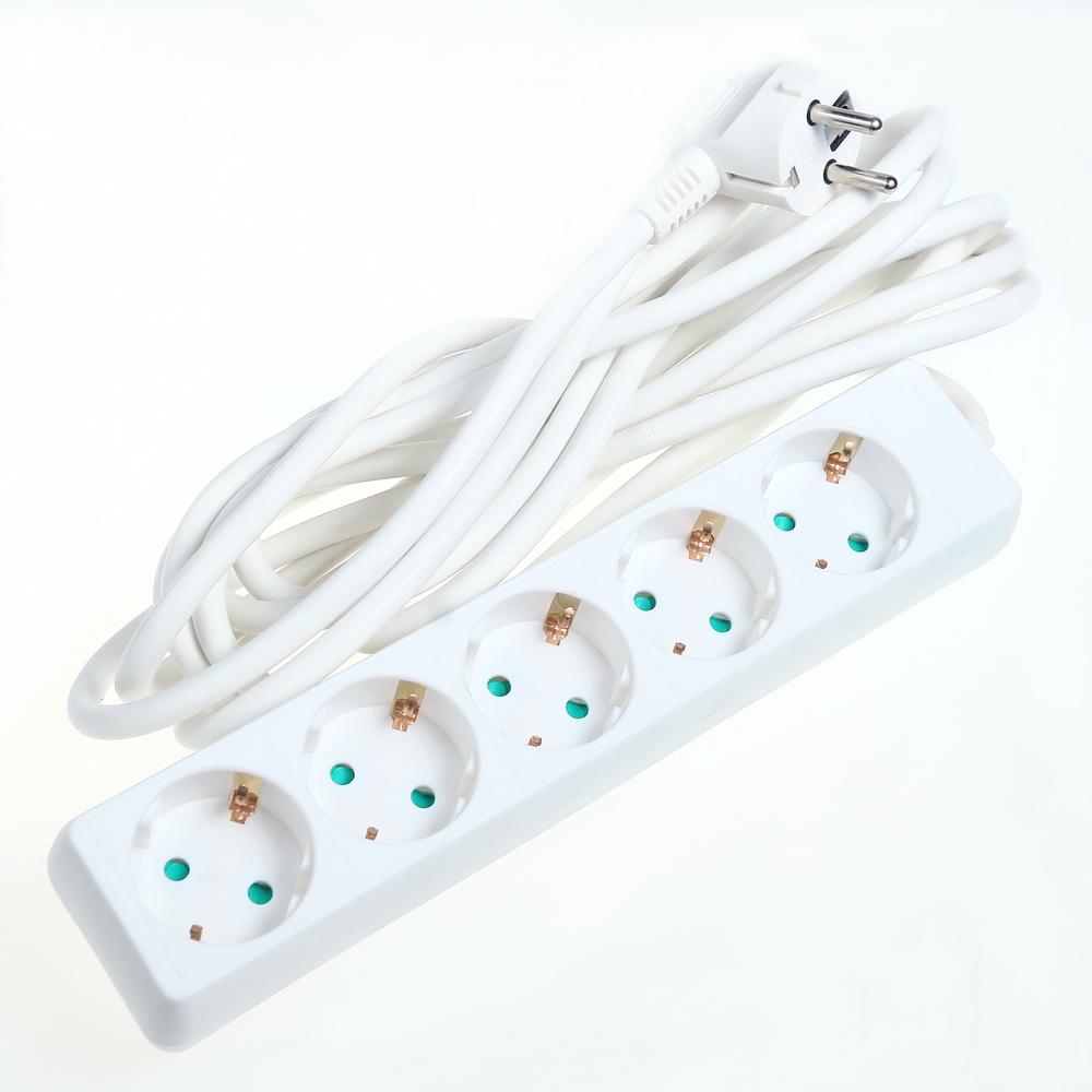 Prelungitor cu 5 prize Schuko, Cablu 3 x 1,5 mm si lungime de 5 m imagine 2021 mathaus
