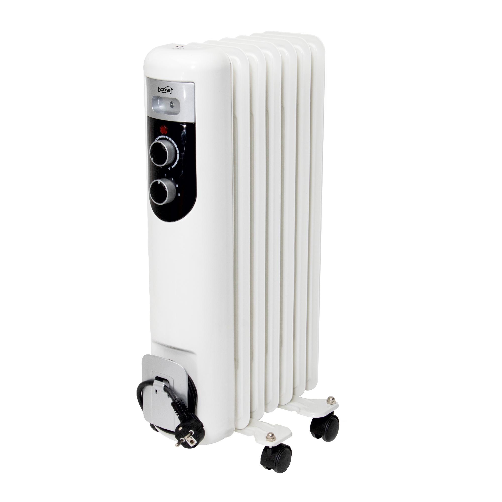 Calorifer electric cu ulei Home by Somogyi FKOS 7M, 2 panouri convectoare, 1500W, aluminiu, alb, 60 x 37 cm imagine 2021 mathaus