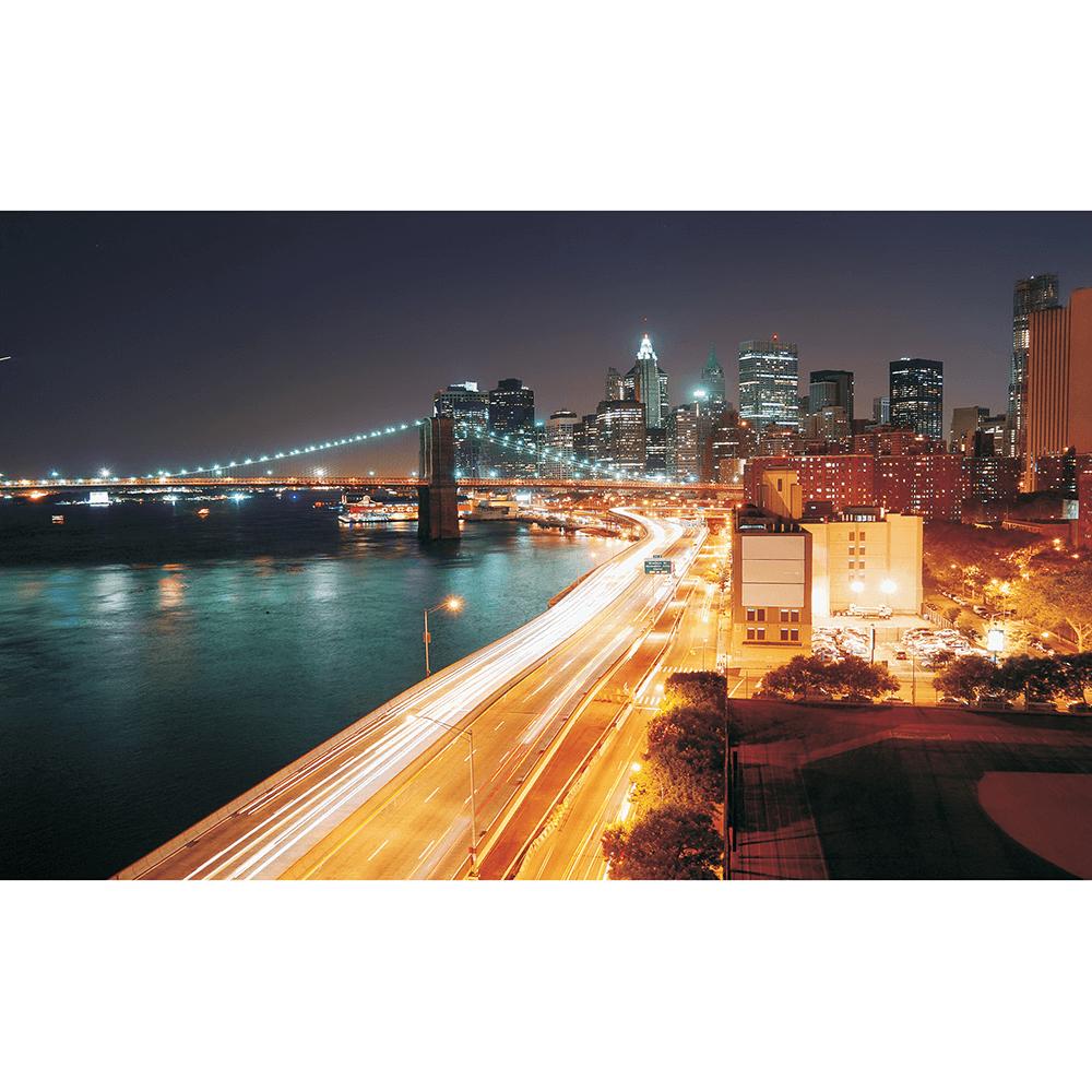 Fototapet duplex Night Light City 8-019, 368 x 254 cm imagine MatHaus.ro