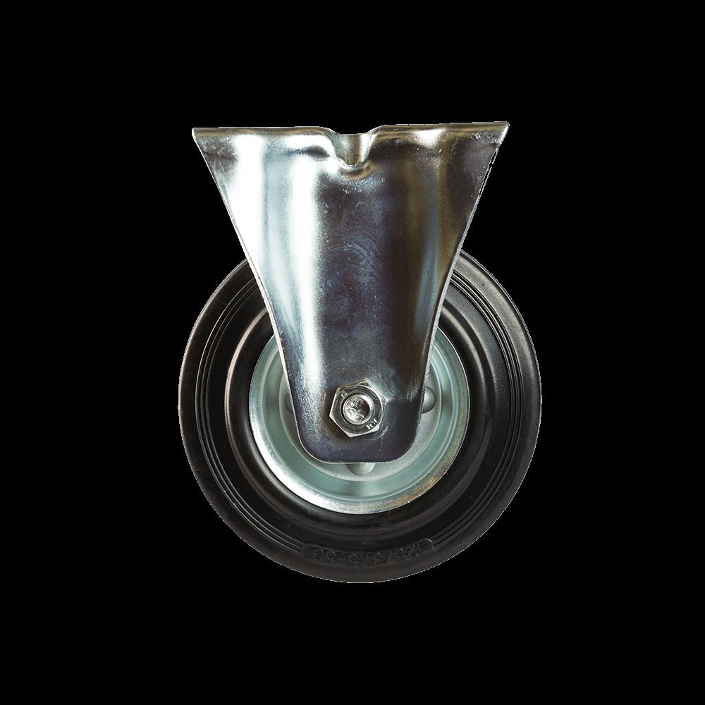 Rola fixa, cauciuc plin negru, 125 x 38 mm, 100 kg mathaus 2021
