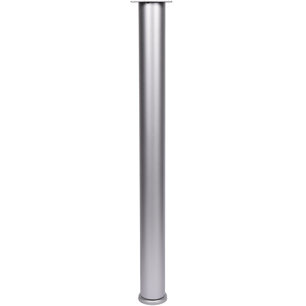 Picior masa reglabil din metal, cromat mat, H: 710-730 mm imagine 2021 mathaus