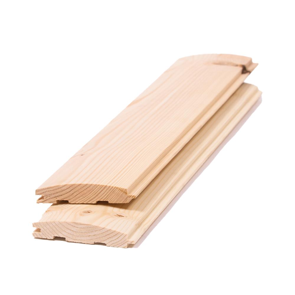 Lambriu lemn semirotund, 96 x 18 x 3000 mm; CL.AB mathaus 2021