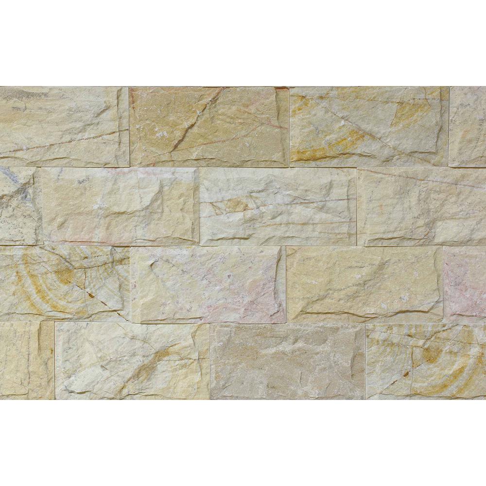 Piatra decorativa naturala Modulo Natimur Terra Cream bej, interior/exterior, 20 x 10 cm imagine 2021 mathaus