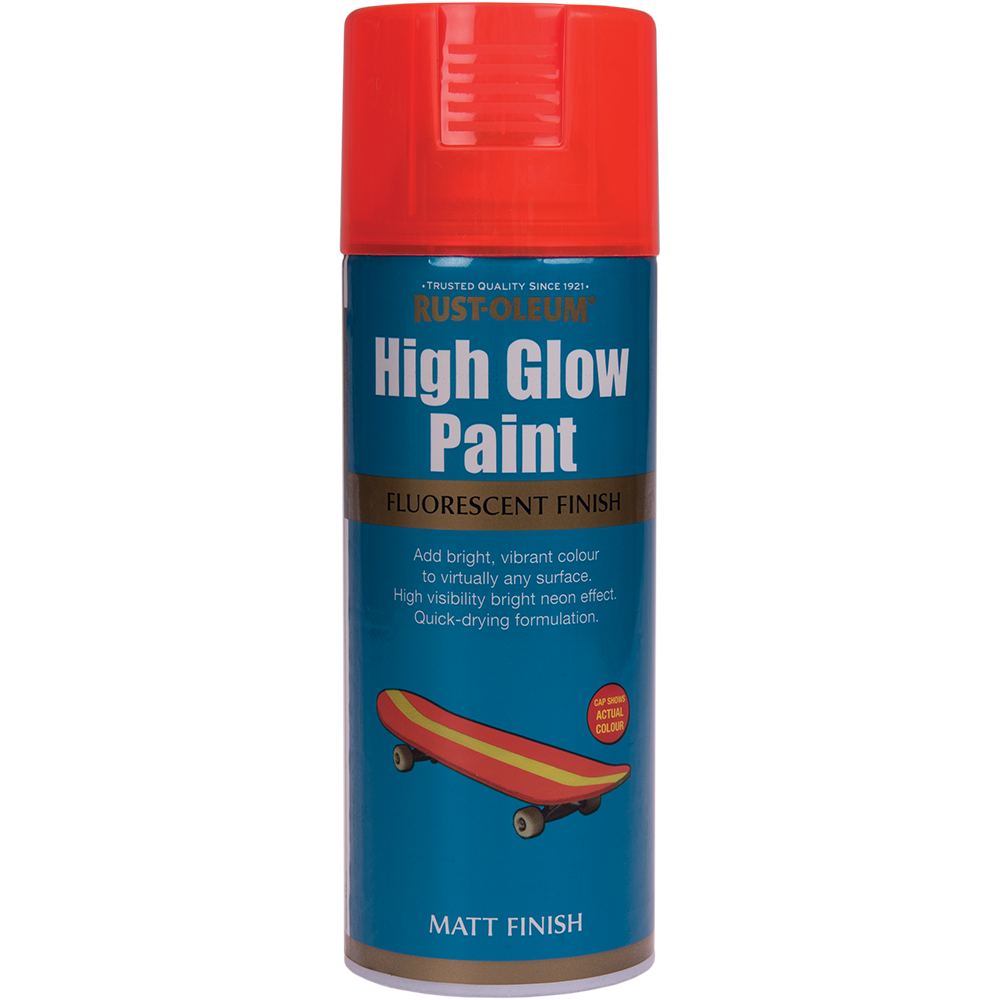 Spray high glow fluorescent portocaliu 400 ml mathaus 2021