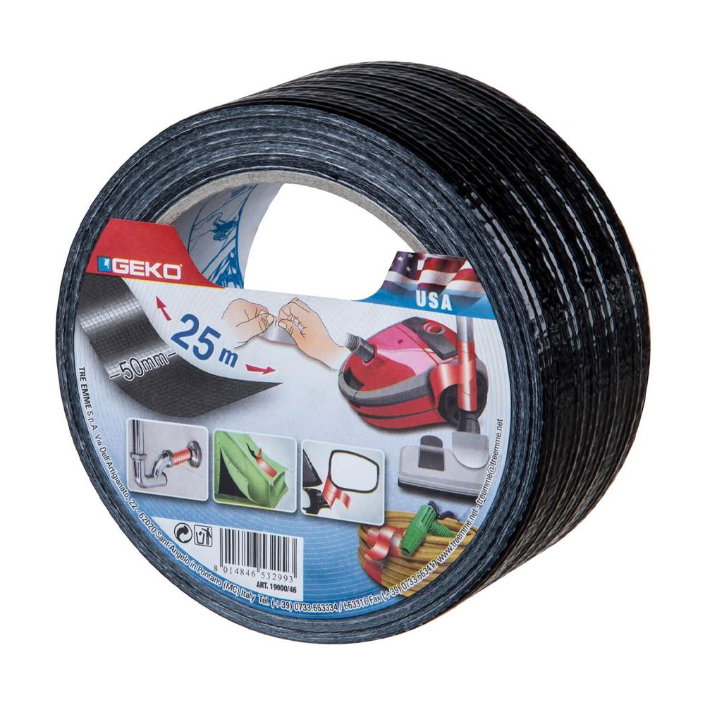 Banda adeziva textila, rezistenta la apa, negru, 50 mm x 25 m imagine 2021 mathaus