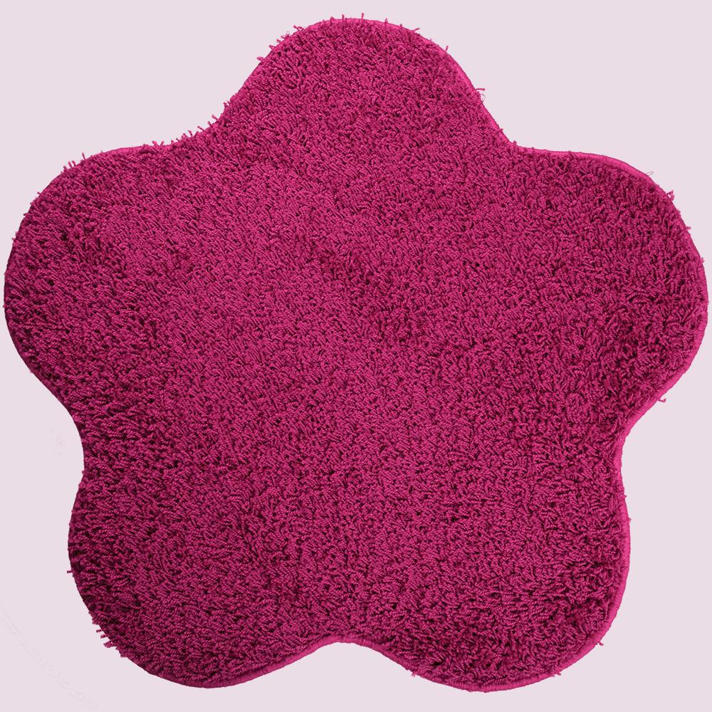 Covor modern Mistral, polipropilena, model floare roz 13, 80 cm
