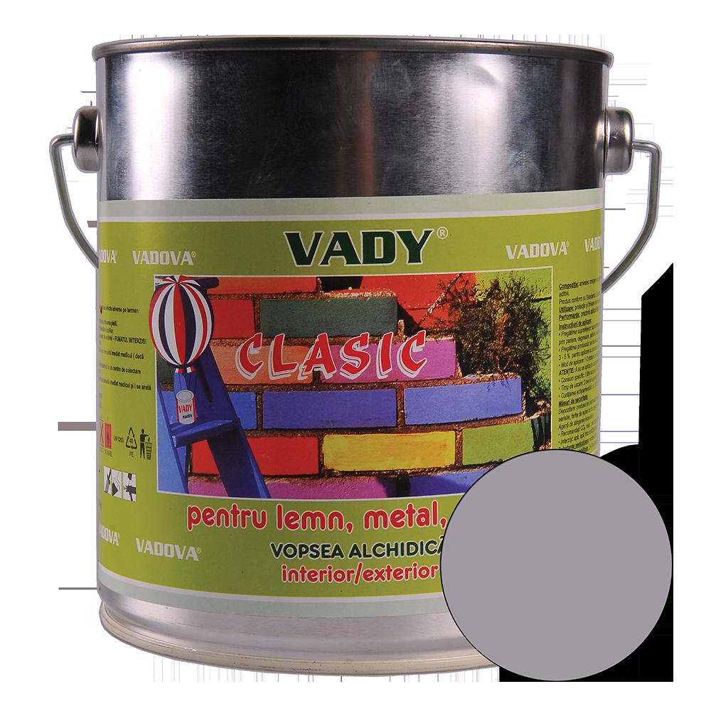 Vopsea alchidica Vady clasic, pentru lemn/metal/zidarie, interior/exterior, gri, 2,5 l imagine 2021 mathaus
