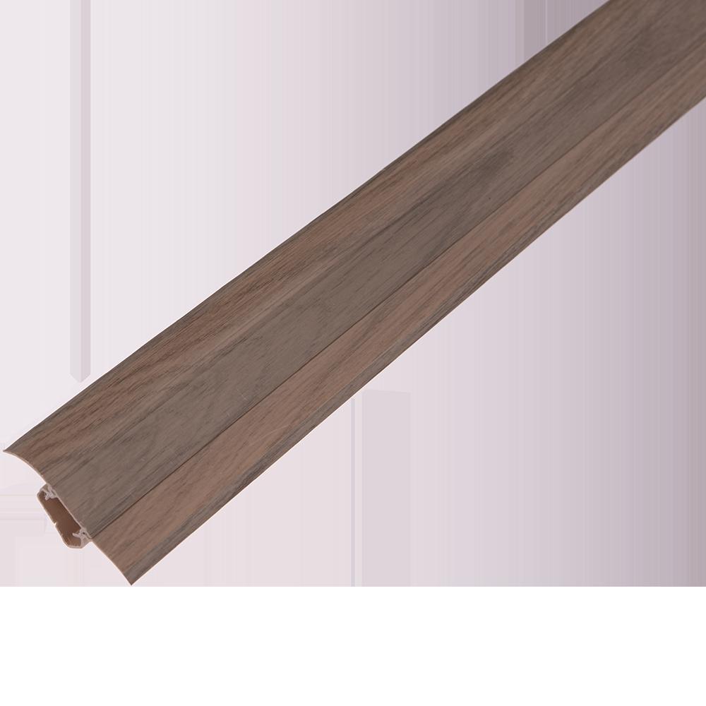 Plinta parchet, cu canal cablu, PVC, stejar canion, 2500x52x22,5 mm imagine MatHaus