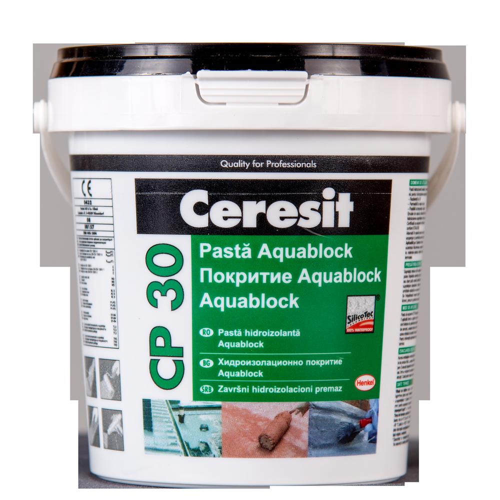 Pasta hidroizolanta Ceresit Aquablock, negru, 1 kg mathaus 2021