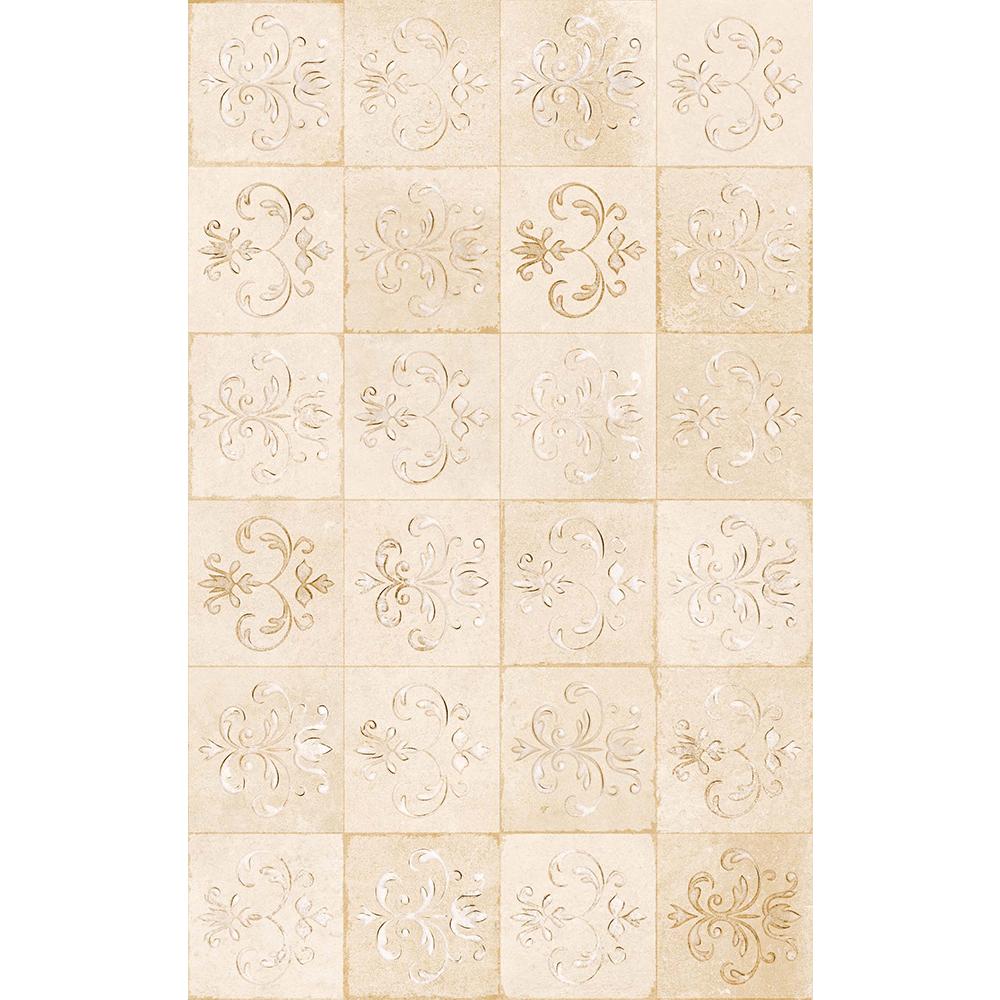 Faianta decorativa Kai Ceramics Latina, bej, finisaj estetic, mata,  25 x 40 cm